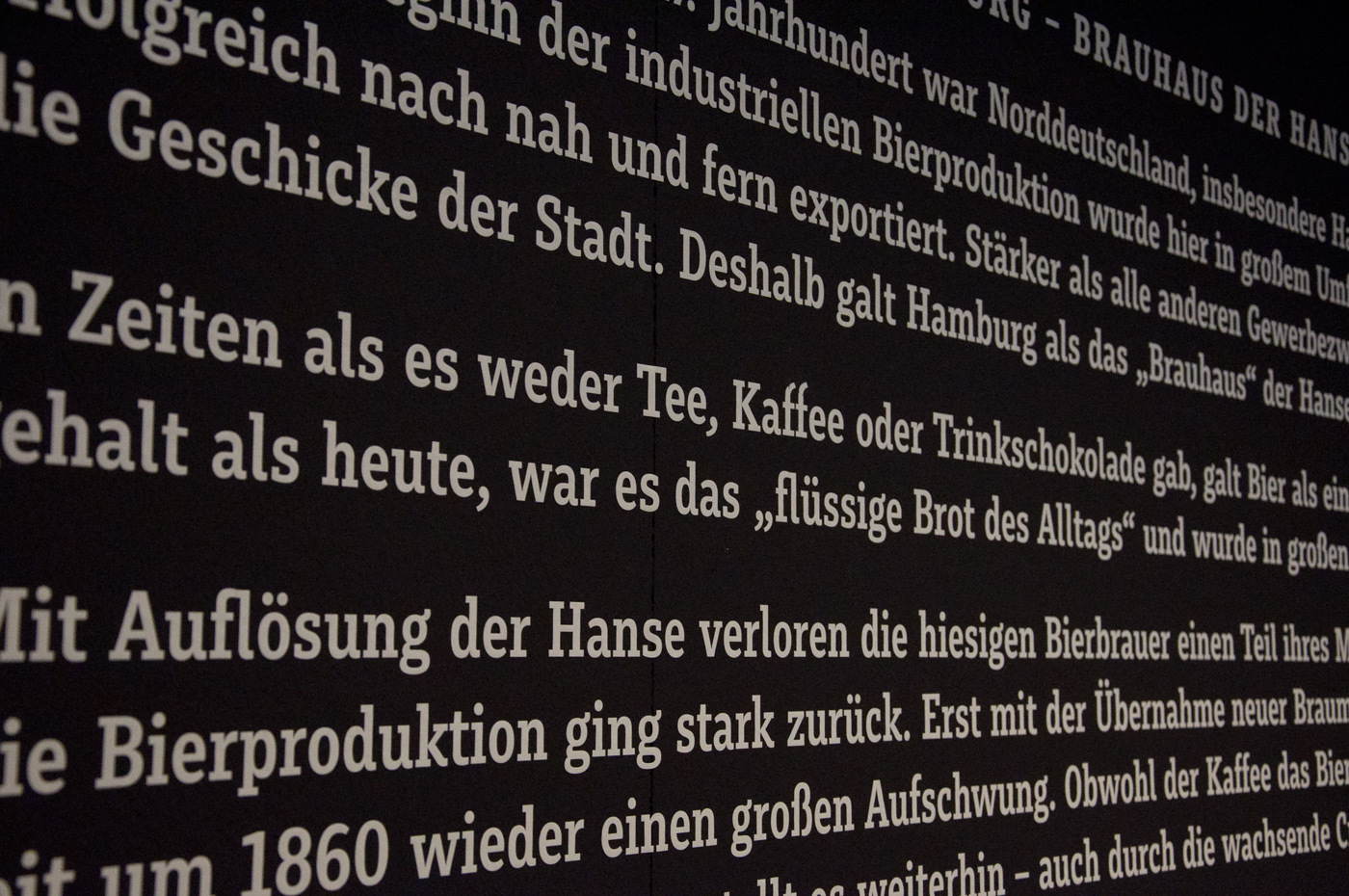 Fonts In Use Kein Bier Ohne Alster Exhibition 11 Muriza