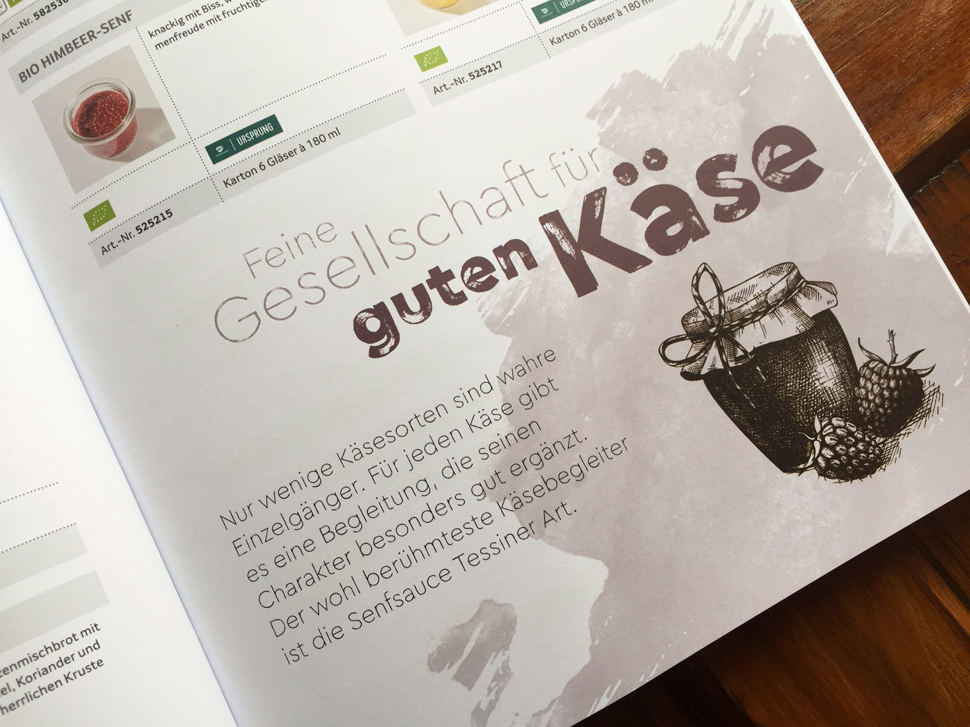 Fonts In Use Trans Gourmet Kaese Magazin Milk Design 15 Cera Brush