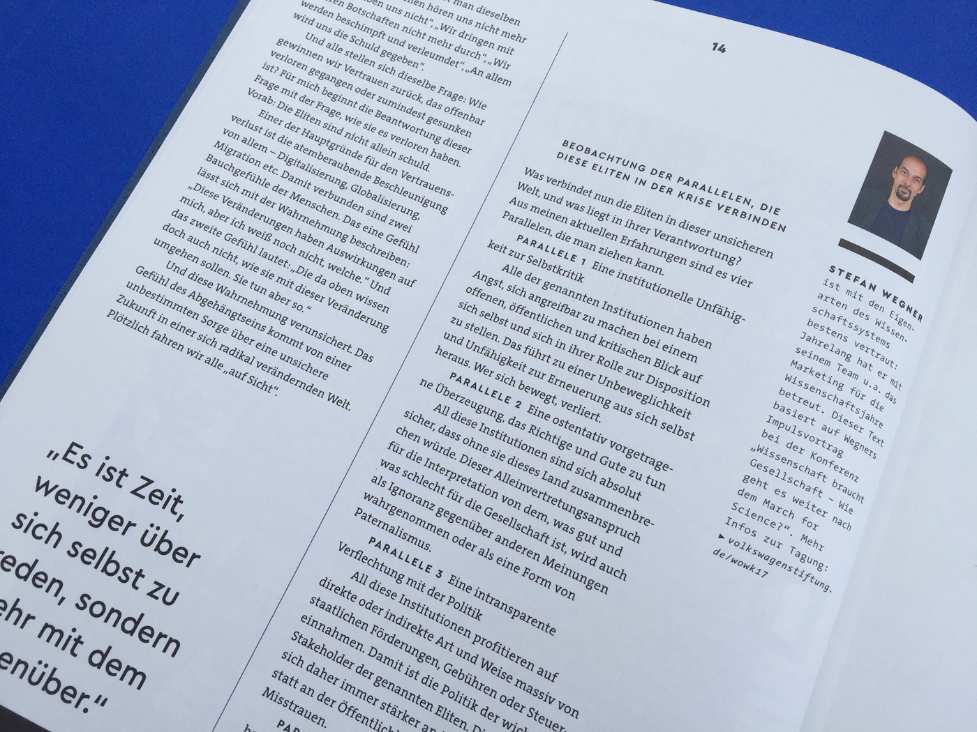 Fonts In Use Volkswagen Stiftung Magazin Corporate Publisher Territory 13 Cera Pro Thesis