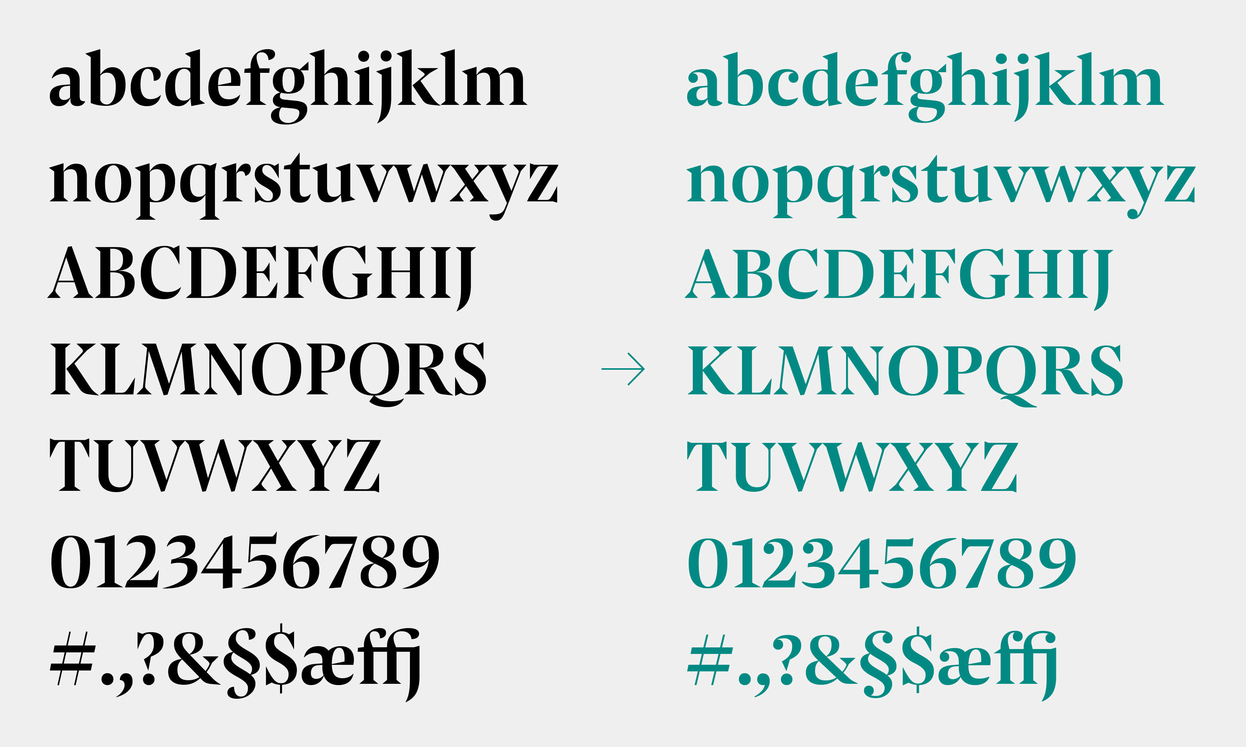 Grosvenor Pensum Display Custom Typeface Typemates 8
