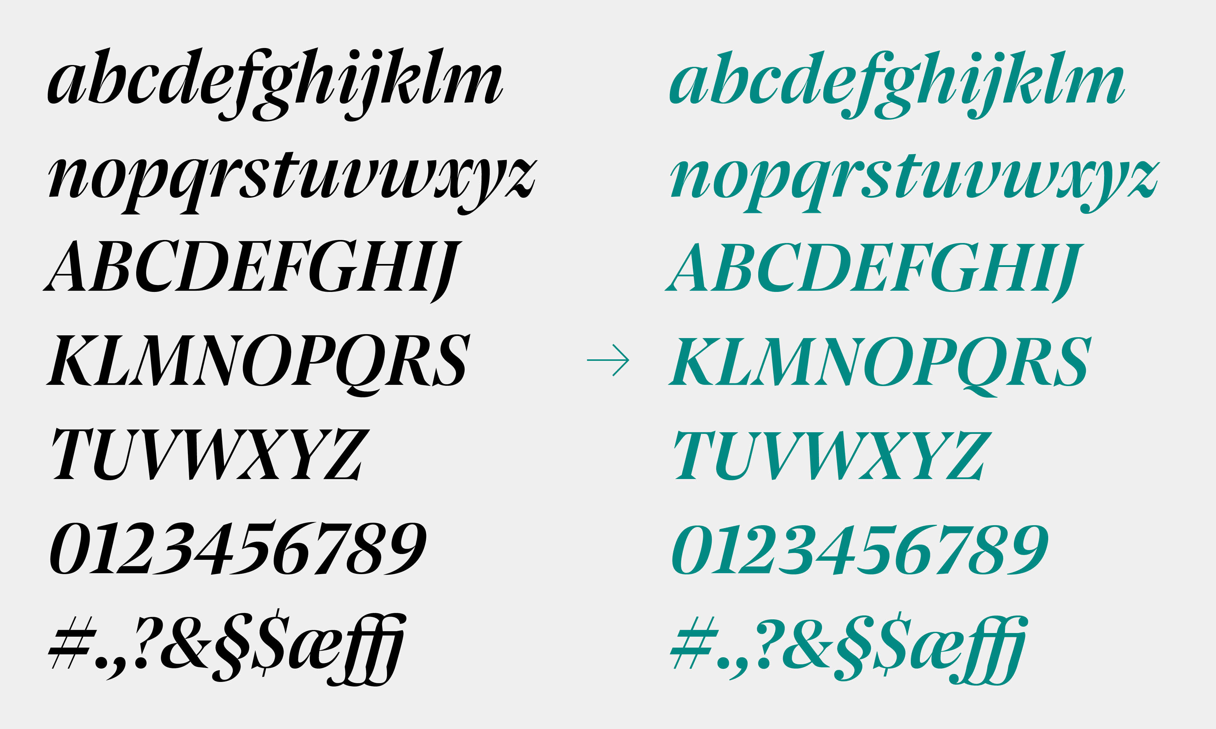 Grosvenor Pensum Display Custom Typeface Typemates 9