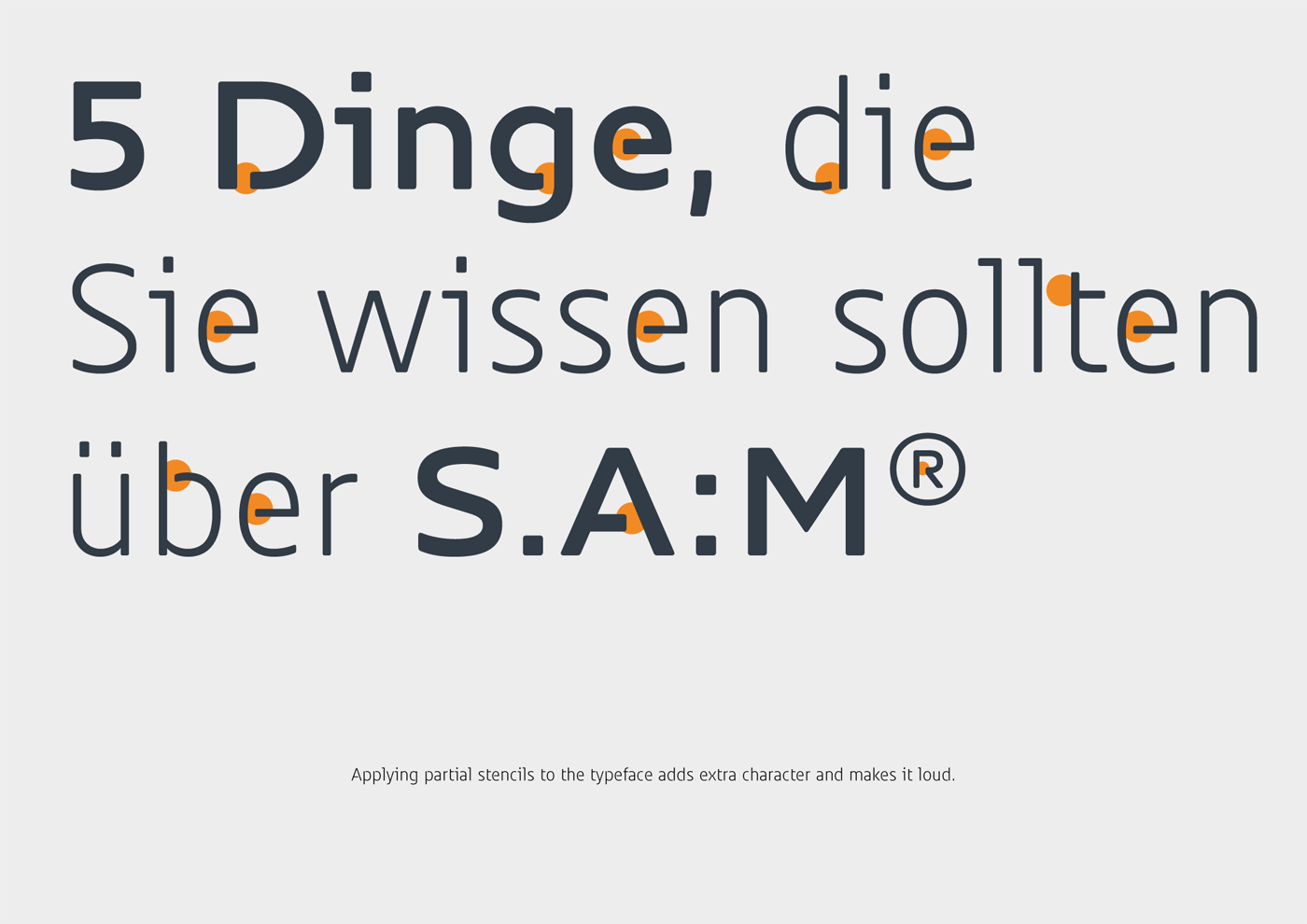 Sam Corporate Font Type Mates 15