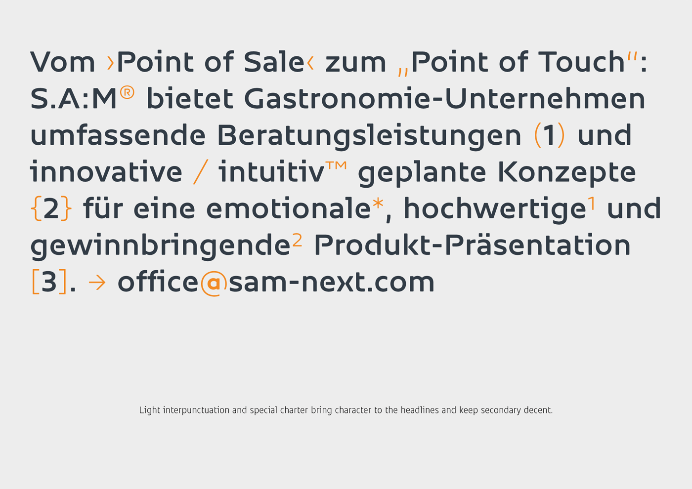 Sam Corporate Font Type Mates 17