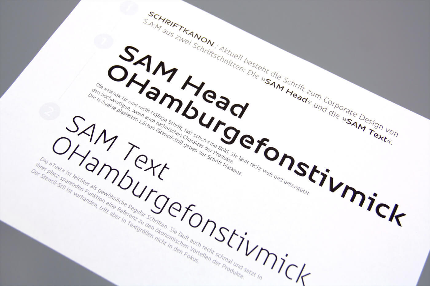 Sam Corporate Font Type Mates 21