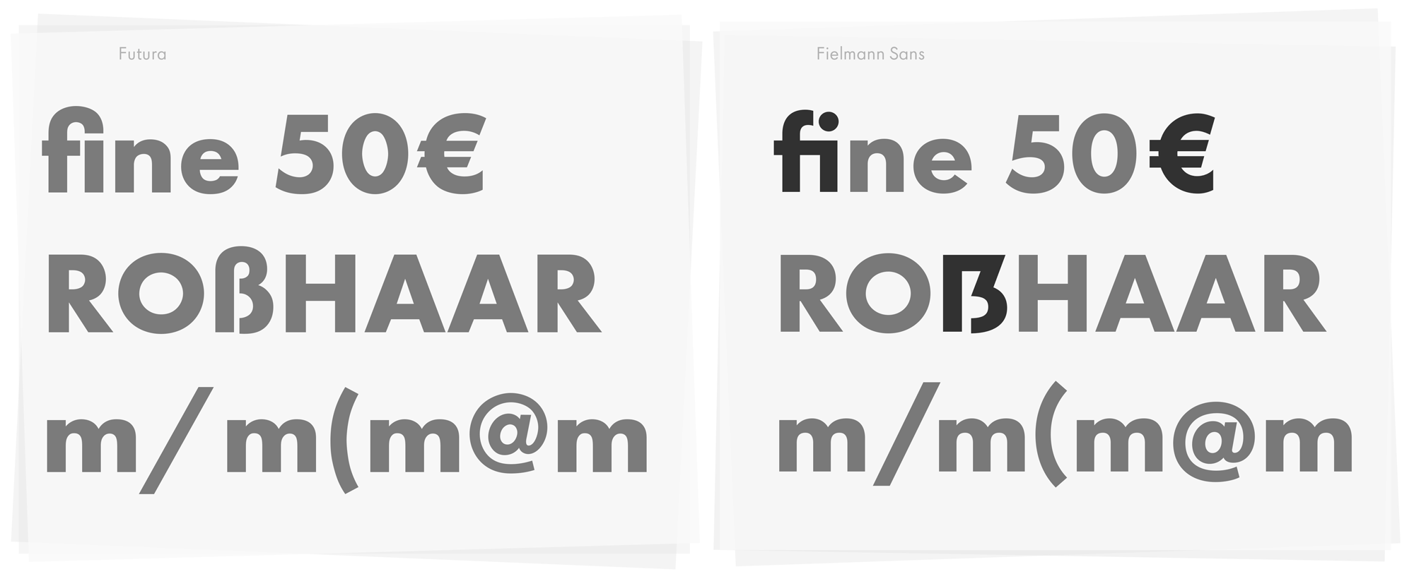 Type Mates Custom Font Fielmann Futura 06 Design Update