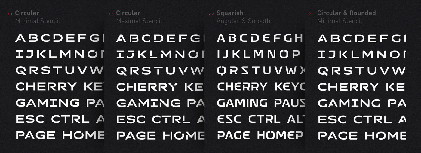 Type Mates Custom Typeface Cherry Mx Key Board50 Doubleshot Gaming Font07