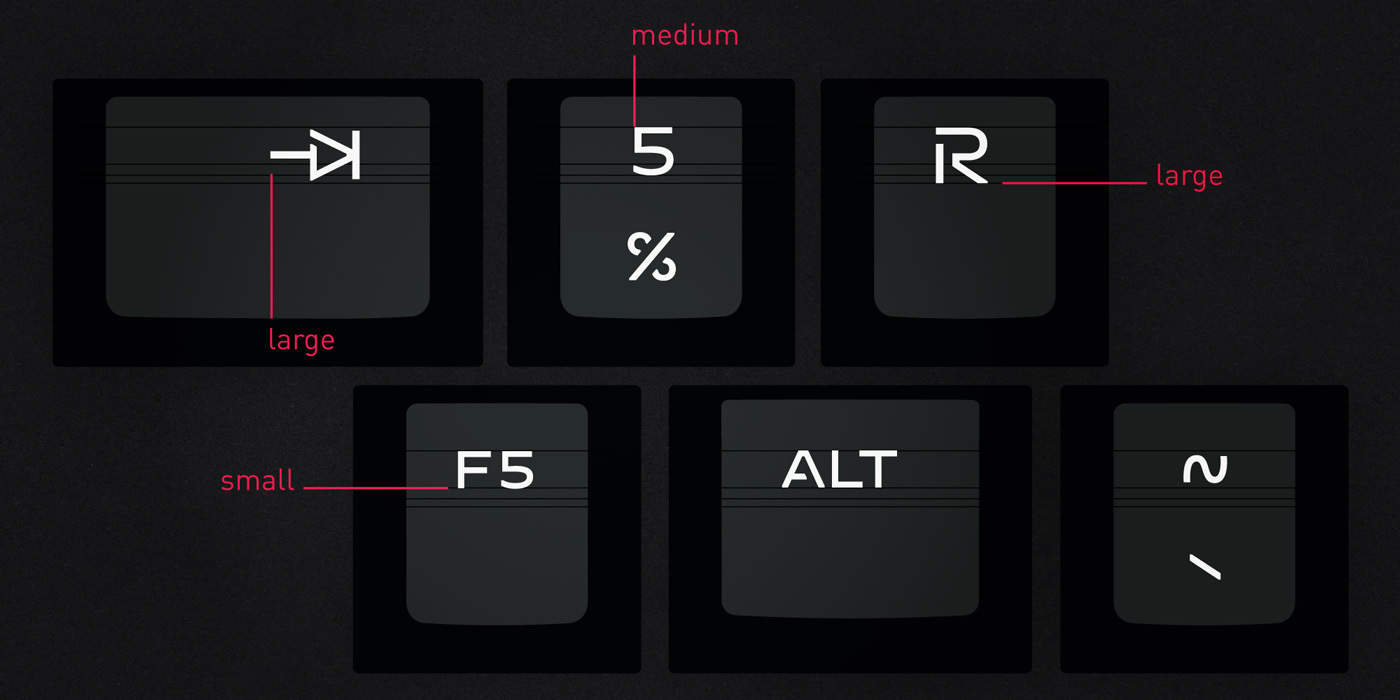 Type Mates Custom Typeface Cherry Mx Key Board50 Doubleshot Gaming Font12