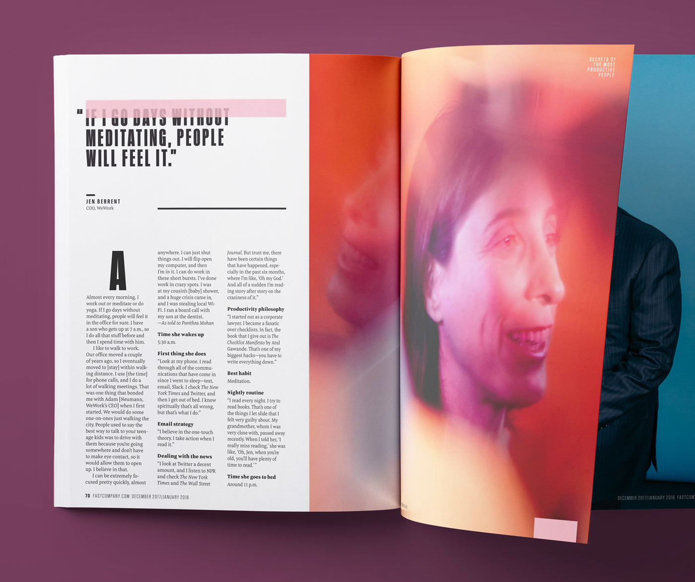 Type Mates Fonts In Use Fast Company Magazine 09 Meret Pro