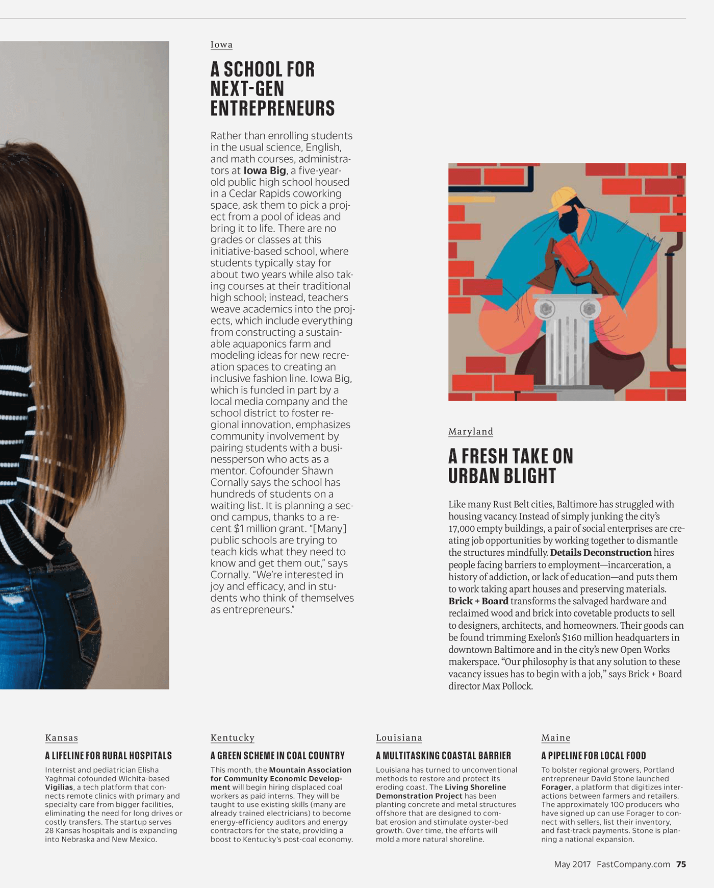 Type Mates Fonts In Use Fast Company Magazine 24 Meret Pro
