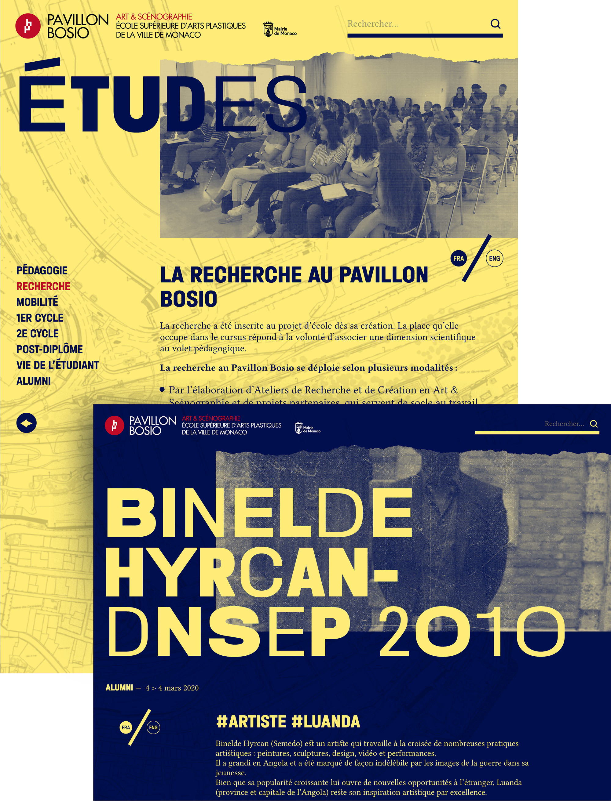 Type Mates Fonts In Use Pavillon Bosio Website Studio Fables 04 Type Mates Fonts In Halvar Variable Font