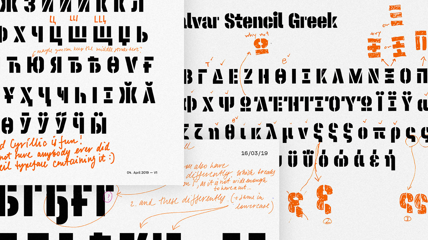 Typemates Halvar Stencil Making Of 09 Cyrillic Greek Revision
