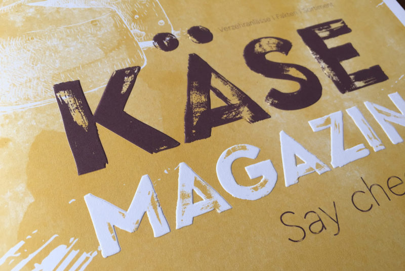 Fonts In Use Trans Gourmet Käse Magazin Milk Design 05 Cera Brush N