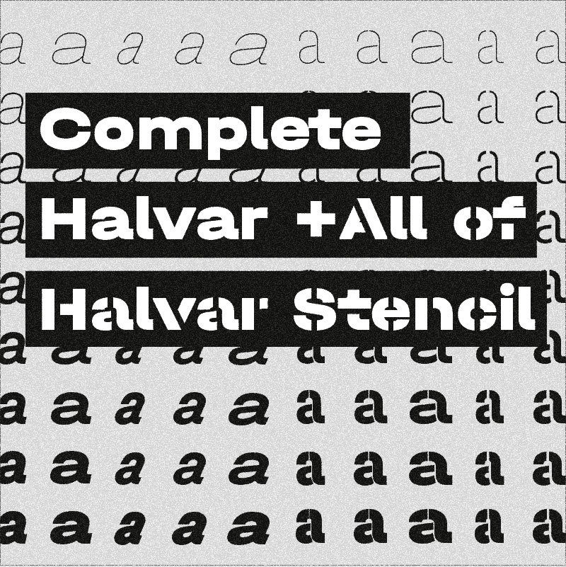 Type Mates Collection Halvar And Halvar Stencil Width Thumbnail