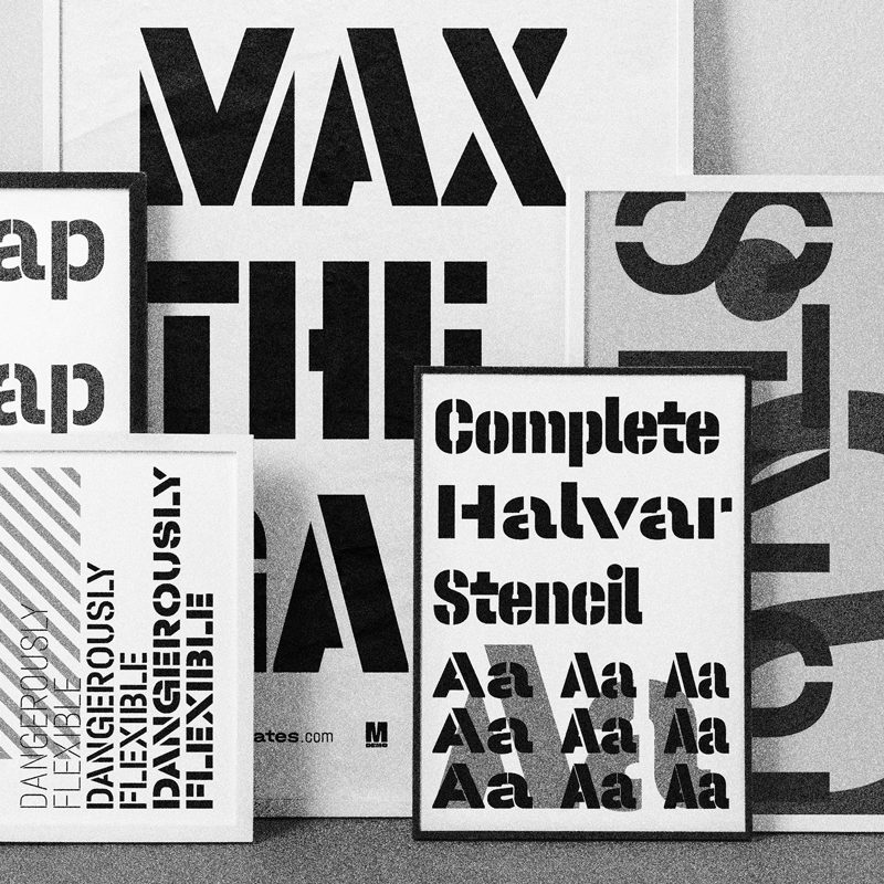 Type Mates Collection Halvar Stencil Condensed Normal Width Thumbnail