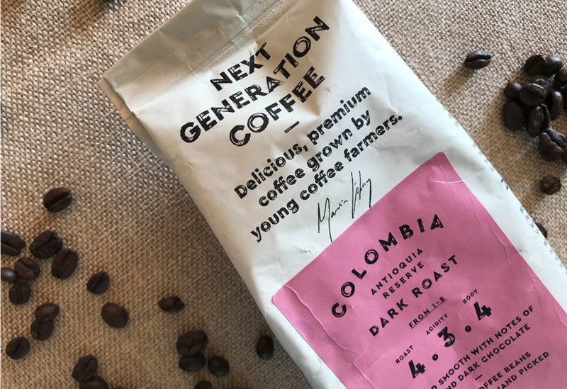 Type Mates Fonts In Use Lofbergs Packaging Next Generation Coffee 02 Cera Brush