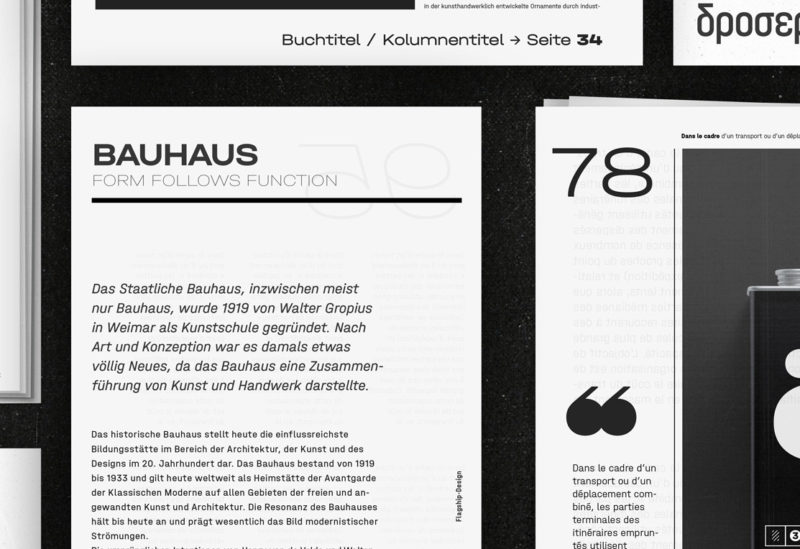 Type Mates Simulated Fonts In Use Typeface 01 Editorial Design Halvar Breitschrift