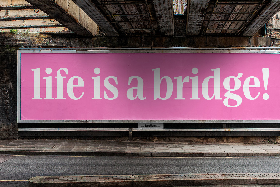 Type Mates Fonts In Use Simulated 03 Billboard Bridge Head By Mona Franz