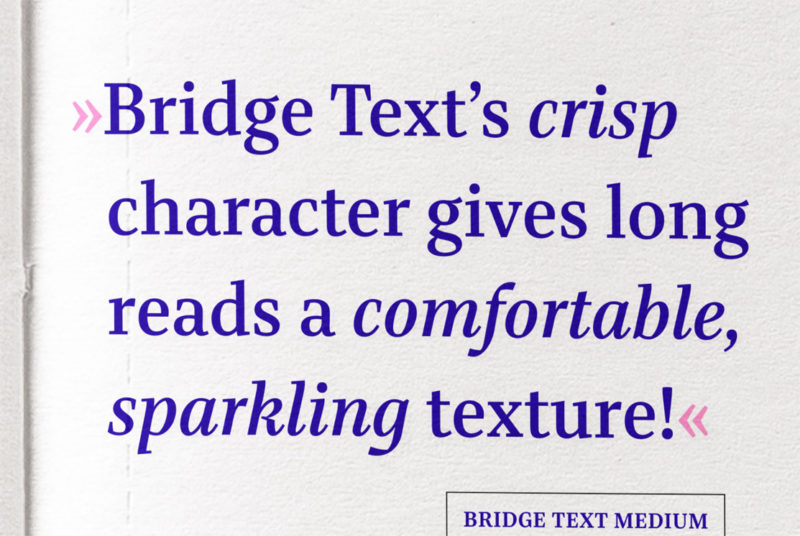 Type Mates Fonts In Use Simulated 06 Quote Bridge Text By Mona Franz