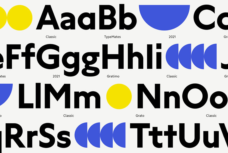 Type Mates Simulated Fonts In Use Geometric Sans Grato Classic4 Open Type Alternates