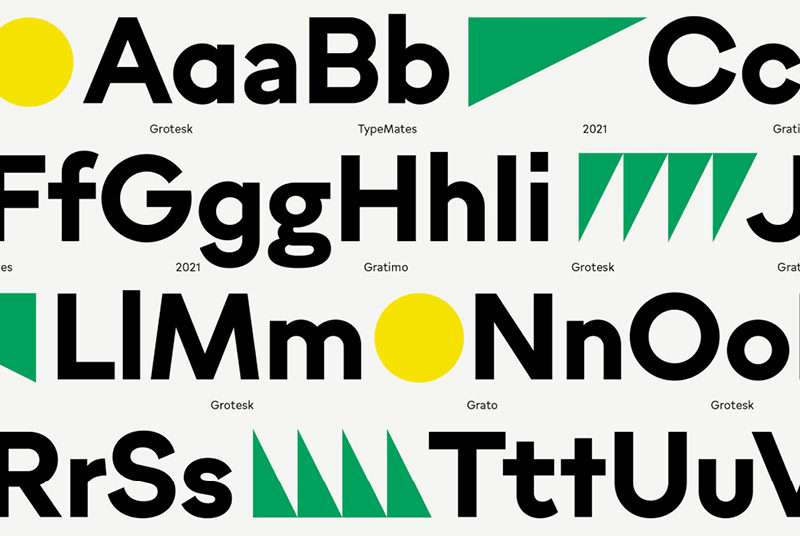 Type Mates Simulated Fonts In Use Geometric Sans Grato Grotesk4 Open Type Alternates