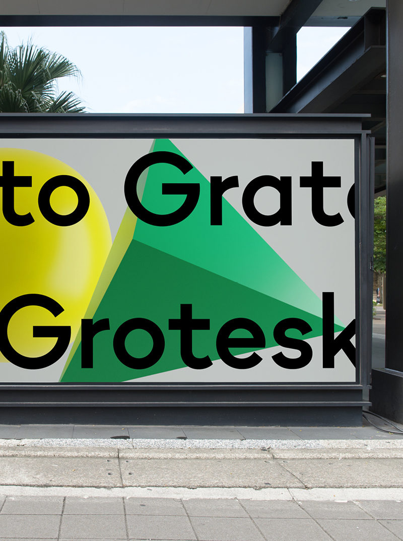Type Mates Simulated Fonts In Use Geometric Sans Grato Grotesk5 Commercial Design