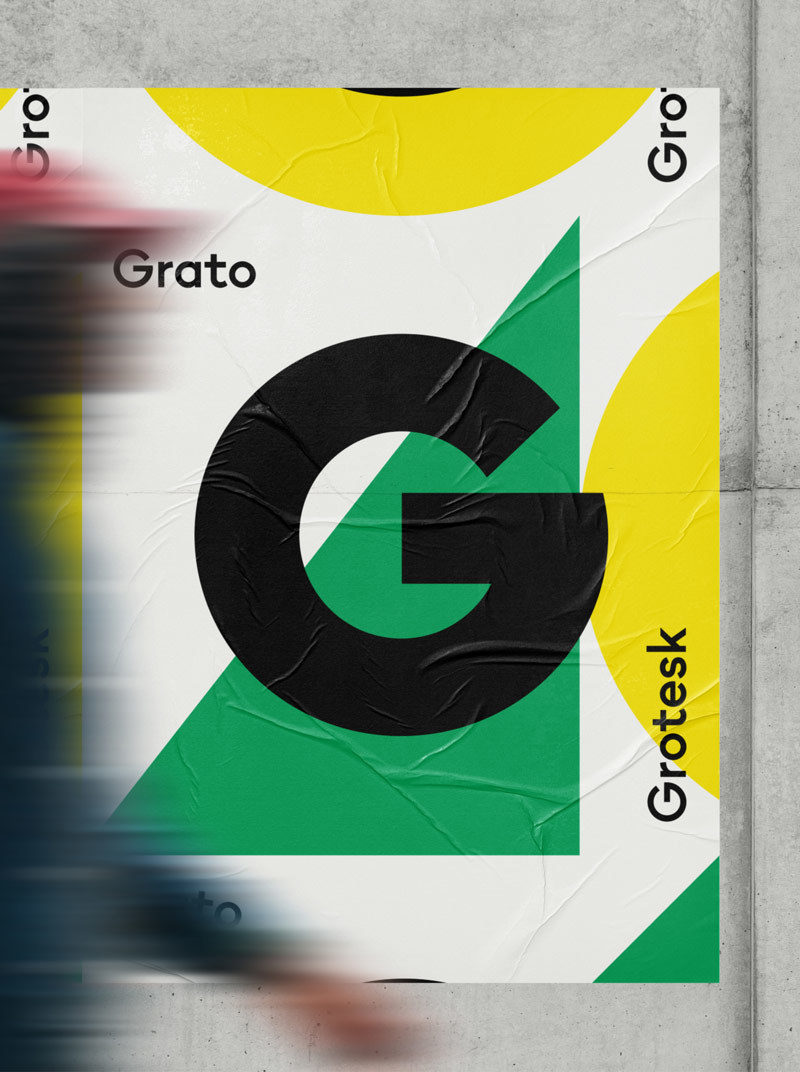Type Mates Simulated Fonts In Use Geometric Sans Grato Grotesk7 Poster Design